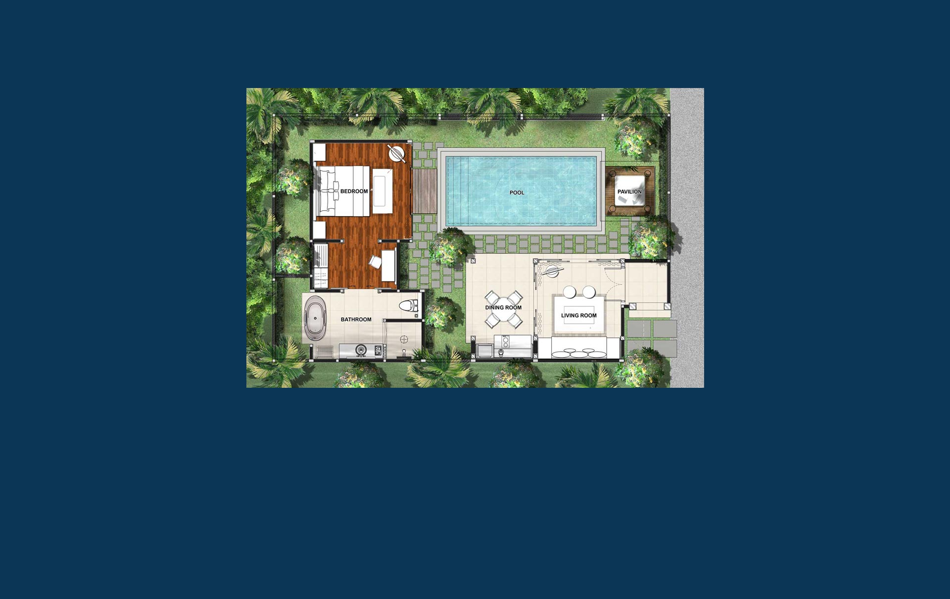 1 Bedroom Villa Floorplan