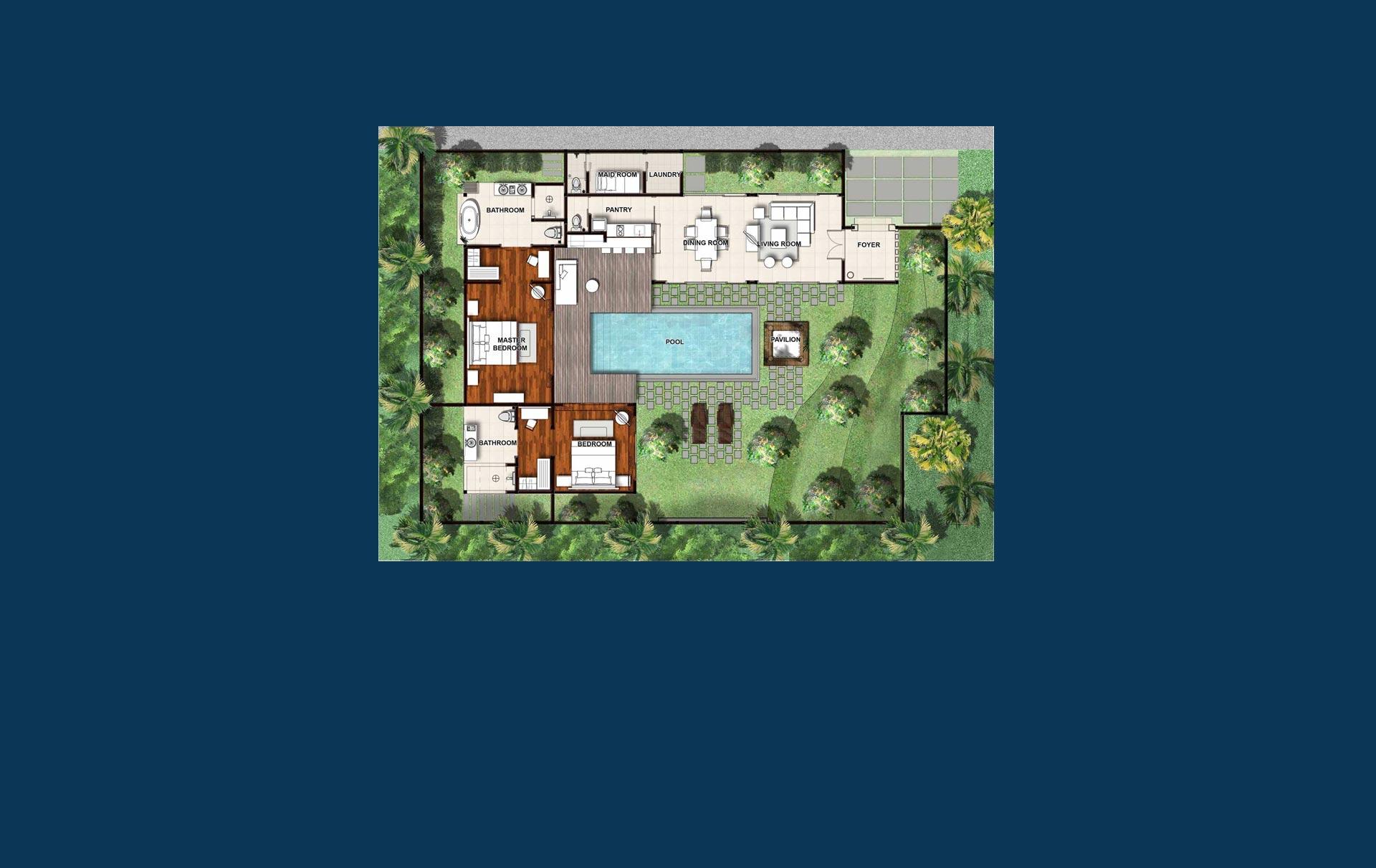 2 Bedroom Villa Floorplan