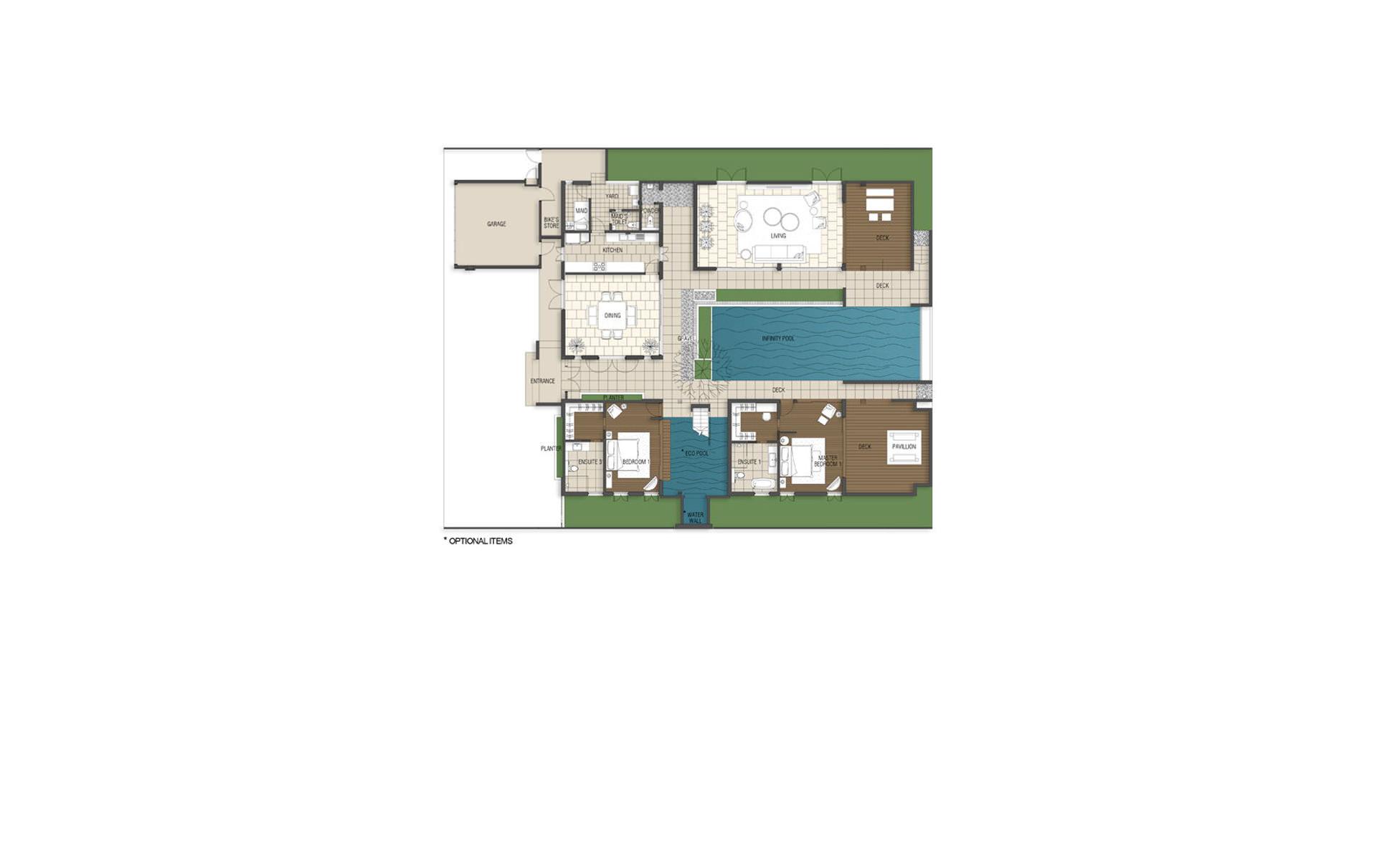4 Bedroom Villa – Pavilion 1st Storey